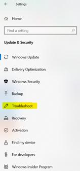 Server execution failed windows 10