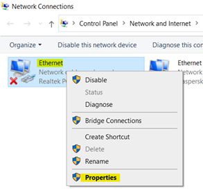 Solved: Ethernet doesn't have a valid IP configuration 2021